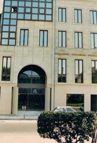 The 'Maison de l'Avocat' (Attorneys' building), built in 1984-85, sit of the HRIBB