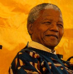Nelson Mandela, first Prize winner of the Ludovic-Trarieux Prize